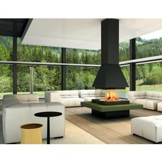 Piazzetta Panoramic   Piazzetta Olden M360 Square Fireplace and ...