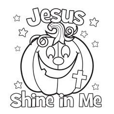 Jesus Shine In Me Coloring Picture For Halloween