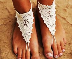 Ivory Barefoot Sandals