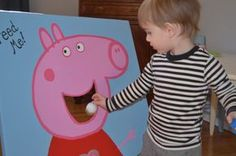 Peppy Pig birthday! Fun game idea for the kids - feed Peppa