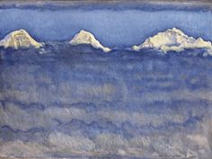 The Eiger, Monch and Jungfrau Peaks Above the Foggy Sea Photographic Print by Ferdinand Hodler at AllPosters.com