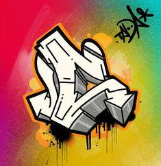 Wie Zeichnet Man Graffiti, Graffiti Words, Graffiti Writing, Street Art Graffiti, Graffiti Letters Styles, Graffiti Lettering Alphabet, Cool Lettering, Lettering Ideas, Graffiti Art Drawings