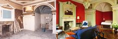 Stunning #restoration of Fox Hall by the Landmark Trust, now available for a holiday let - #oldtonew #refurbishment #renovation #Lavish #wallpaper #grand #beforeandafter