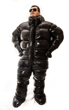 Glanznylon oversized and overfilled puffy suit. Not Down filled but still an aswesome suit! Cool Jackets, Winter Jackets, Nylons, Ski Suit Mens, Down Suit, Velcro Tape, Moon Boots, How To Introduce Yourself, Etsy