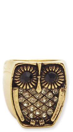 Cute Clothing under $50 - ZAD - Gold Owl Ring - chloelovescharlie.com   $14.00 - StyleSays