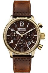 Ingersoll The Apsley Gents Quartz Chronograph Watch with a Stainless Steel case and Genuine Leather Strap Ingersoll Watches, Herren Chronograph, Luxury Watches For Men, Watches Online, Stainless Steel Case, Omega Watch, Rolex Watches, Quartz, Accessories