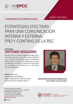 Conoce más estrategias para una comunicación organizacional efectiva en esta conferencia internacional organizada por la Asociación de Egresados y Graduados de Ciencias de la Comunicación.