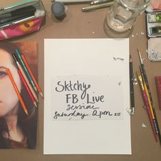 On Saturday July 2nd at 2pm EST I'll be doing a @FBLive @sktchy portrait demo on my Blueshineart Facebook page. Come and chat and ask me questions as I draw and paint. #blueshineart #sktchy #portrait #demo #onmytable #inmystudio #artdemo #fblive