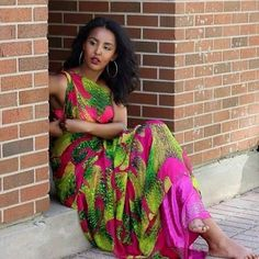 Somali female Ugaaso in traditional dress
