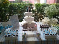 Chocolatando Idéias: Mesa de doces casamento informal !!!
