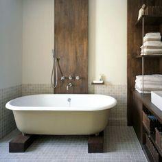 clawfoot tub & dark wood. by sofiev