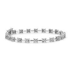 Beautiful Bouquet Diamond Bracelet in 18k White Gold | #Wedding #Jewelry #Diamonds