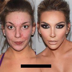 25 Dazzling Photos That Show the True Power of Makeup Contour Makeup, Makeup Geek, Makeup Tips, Beauty Makeup, Eye Makeup, Hair Makeup, Hair Beauty, Beauty Makeover, Makeup Makeover