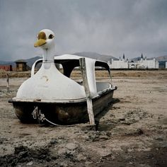 Abandoned swan boat by Colin Delfosse