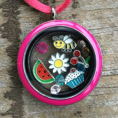 Complete Set with Random Charms and Pink Locket