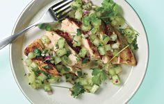 Grilled Chicken Breasts with Honeydew Salsa - Bon Appétit