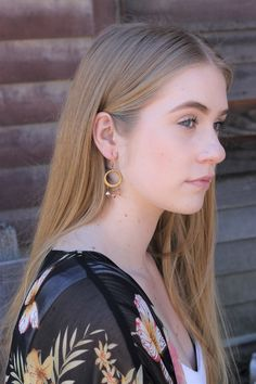 Boho hoop earrings f