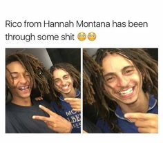 Rico from Hannah Montana has seen some things man