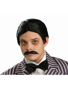 Check out Adult Addams Family Gomez Addams Wig & Moustache Kit - Costume Accessories for 2018 | Wholesale Halloween Costumes from Wholesale Halloween Costumes