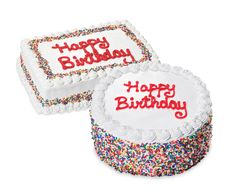 Cold Stone for friend party Oreo/yellow cake 8x12 rectangle ask for extra sprinkles on side $43