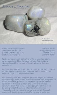 Rainbow Moonstone - by Skyla NightOwl - The Magical Circle School www.themagicalcircle.net