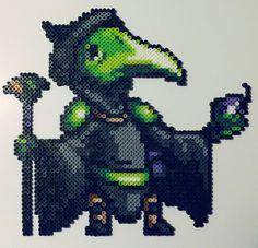 Plague Knight Perler Bead by kamikazekeeg on DeviantArt