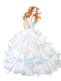 Custom Fashion Illustration Bridal Illustration by DCinStyle
