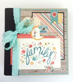 Family Scrapbook Album Kit or Premade Scrapbook by ArtsyAlbums
