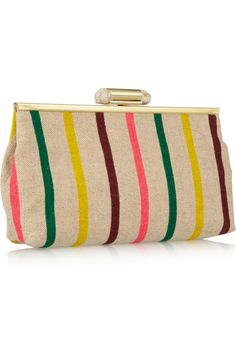 Adorable Striped canvas clutch, J. Crew, $98.00