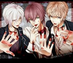 Subaru,Shu and Ayato(Diabolick lovers)