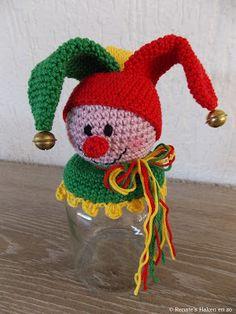 Amigurumi Jar Decorating Clown Making Crochet Fairy, Crochet Dolls, Knit Crochet, Crochet Hats, Amigurumi Doll, Amigurumi Patterns, Crochet Patterns, Adult Crafts, Diy Crafts For Kids