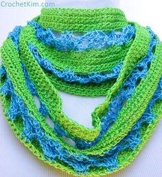 CrochetKim Free Crochet Pattern | Malibu Infinity Scarf @crochetkim