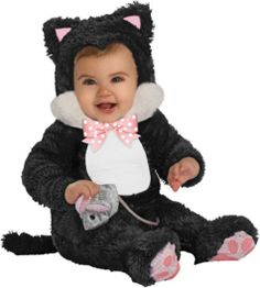 Sneaky Black Kitty Cat Baby Costume Kids Cat Costumes. | Animal Costumes | Pinterest | Black kitty Baby costumes and Costumes  sc 1 st  Pinterest & Sneaky Black Kitty Cat Baby Costume Kids Cat Costumes. | Animal ...