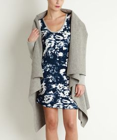 This Gray Eva Wool-Blend Coat is perfect! #zulilyfinds