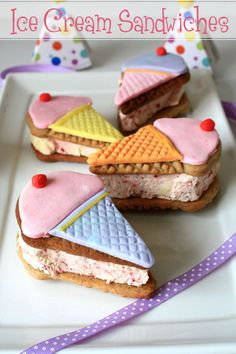 cute ice cream sandwiches