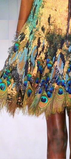Luxury Peacock Skirt - Luxurydotcom