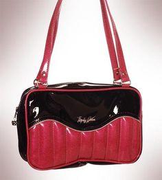 """Trophy Queen Purses - """"Tuck & Roll"""" Kustom Handbag By Trophy Queen- Hot Pink/Black"""