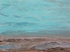 Abstract Seascape,Beach, Ocean Coastal Living Decor Calling Softly by Colorado Contemporary Artist Kimberly Conrad