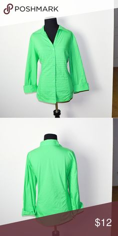 Adorable Green Button Down Shirt In excellent condition! Very comfortable, lightweight, and flattering! Buy 3 items and get 1 free plus 15% off your purchase total Tops Button Down Shirts