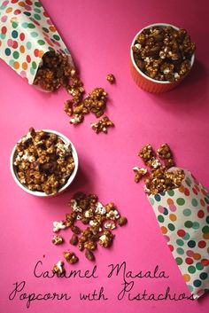 Yes, yes, yes! Caramel Masala Popcorn with Pistachios from @LoveandFlour.