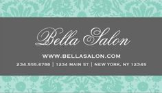 Modern two toned spring green damask with brown stripe business girly damask business cards page 1 reheart Gallery