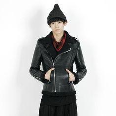 Remember Click Fleece-Lined Mustang Jacket BLACK M L Korean Wear #RememberClick #FleeceJacket