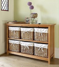 Six Basket Console Unit would be good in a hallway or in the kitchen.
