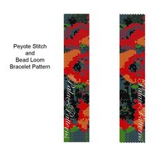 Peyote Stitch Bracelet Pattern - Bead Loom Bracelet Pattern - PP103