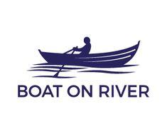 Logo Design - Boat on river