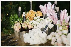 guests to choose their favorite flowers for a sweet little custom bouquet. Wouldn't that be the perfect activity and favor at a bridal shower?