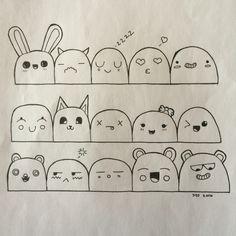 So cute! Please like and share! So cute! Please like and share! Easy Doodle Art, Doodle Art Drawing, Doodle Sketch, Cute Sketches, Cartoon Sketches, Kawaii Doodles, Cute Doodles, Art Drawings For Kids, Easy Drawings