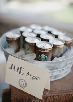 Keep them awake for the drive home ~ we ❤ this! moncheribridals.com