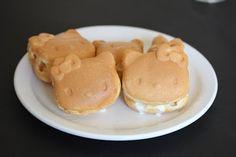 Hello Kitty Ice Cream Waffle Sandwiches | Kirbie's Cravings | A San Diego food blog