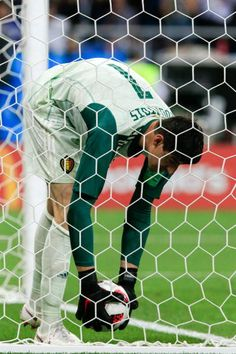 Belgium's goalkeeper Thibaut Courtois upset after conceding a goal in their 2018 FIFA World Cup Round of 16 football match against Japan at Rostov. World Cup 2018, Fifa World Cup, Thibaut Courtois, Russia 2018, Football Match, Goalkeeper, Real Madrid, Soccer, Goals